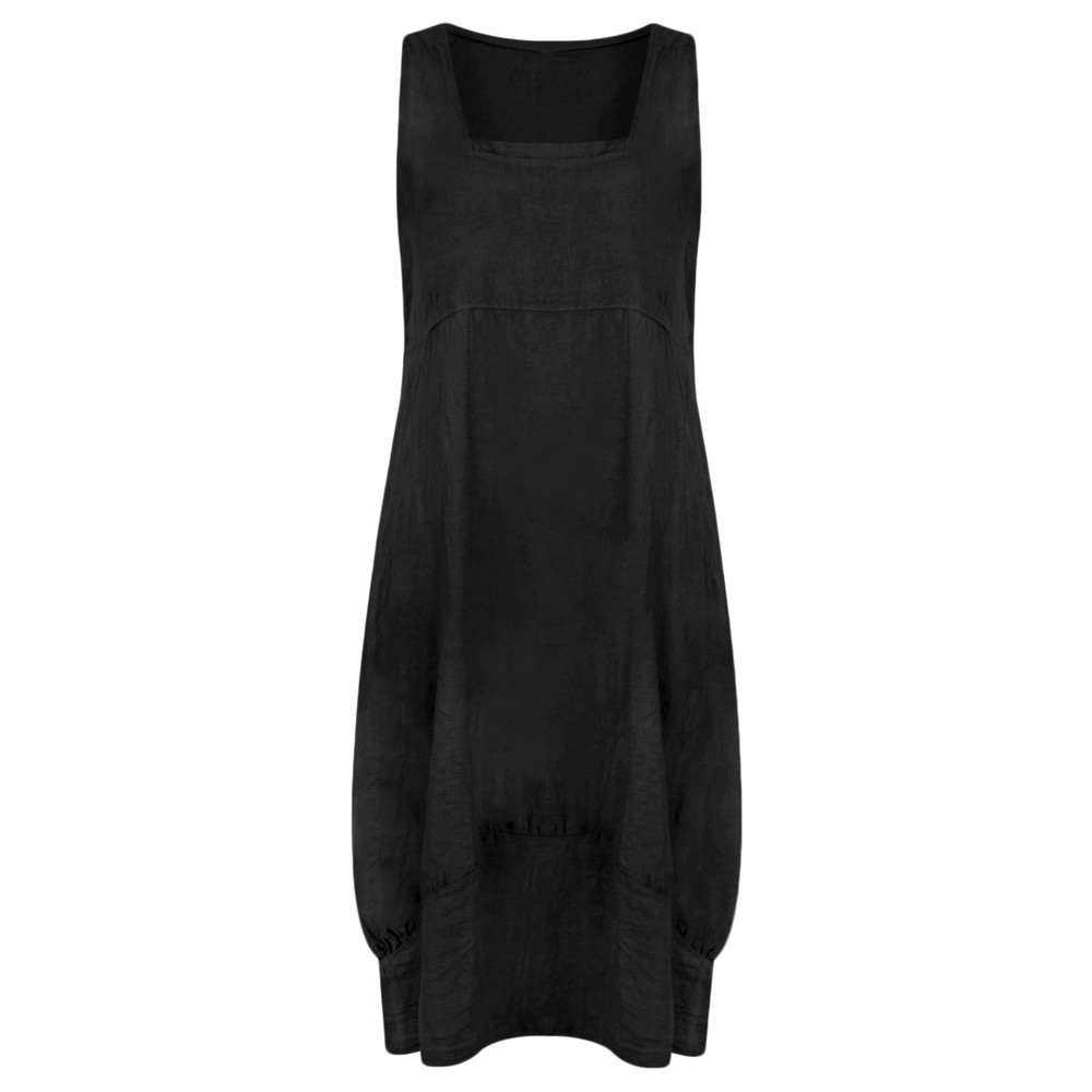 TOC Demelza Linen Dress Black
