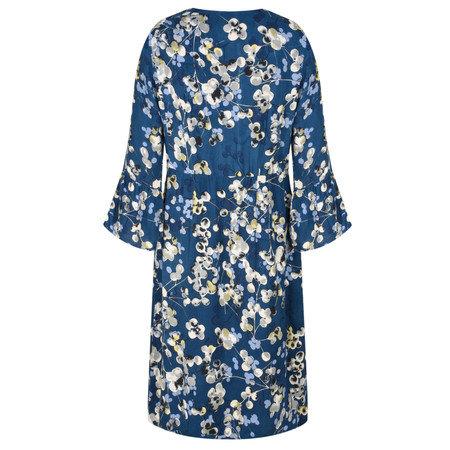 Adini Inky Berries Print Penny Dress - Blue
