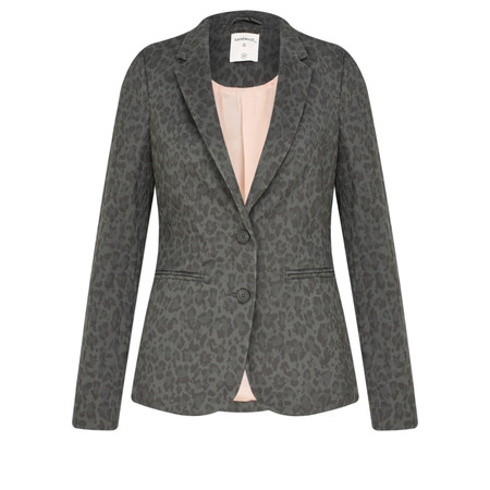 Sandwich Clothing Leopard Print Jacket - Grey