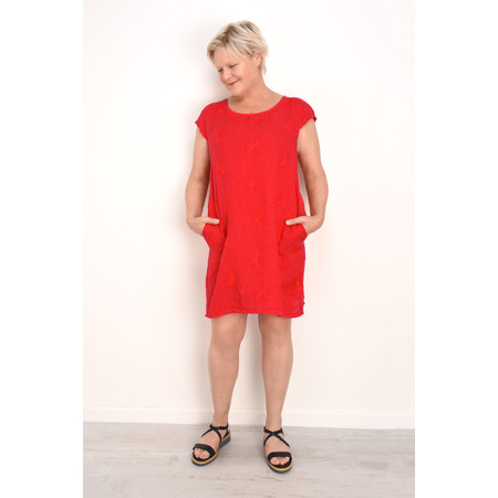 TOC  Plumia Linen Dress - Red
