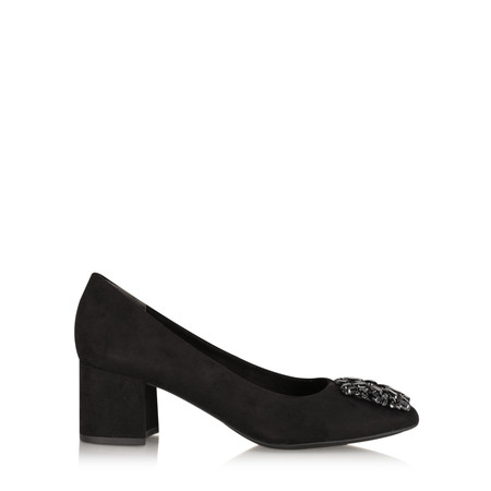 Marco Tozzi Mila Dandy Buckle Court Shoe - Black