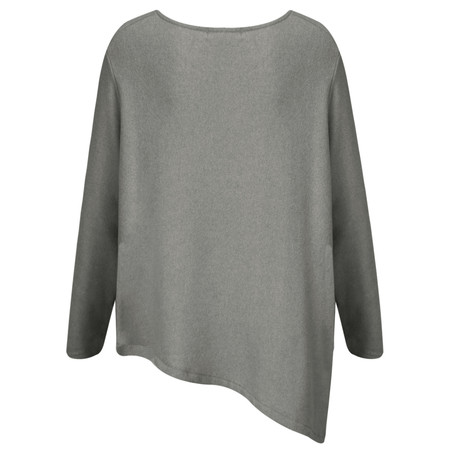 Mama B Pietra Asymmetric Hem Knit Top - Grey