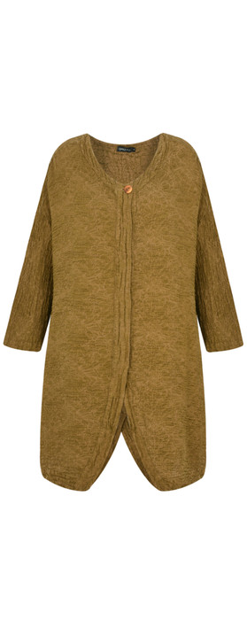 Grizas Suren Flower Print Jacket Golden Khaki