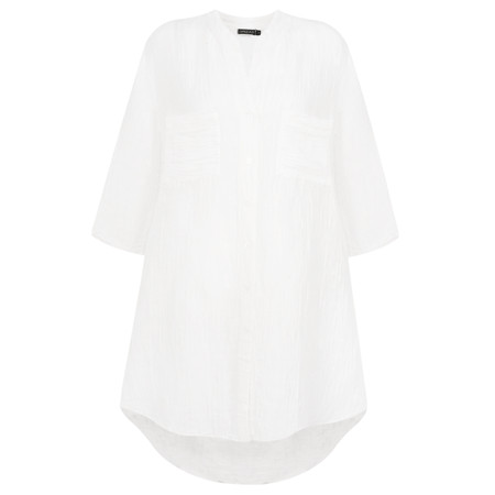 Grizas Nessa Solid Crinkle Shirt - White