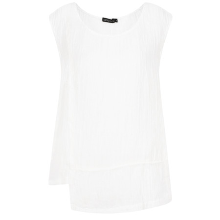 Grizas Kamile Solid Crinkle Cami - White