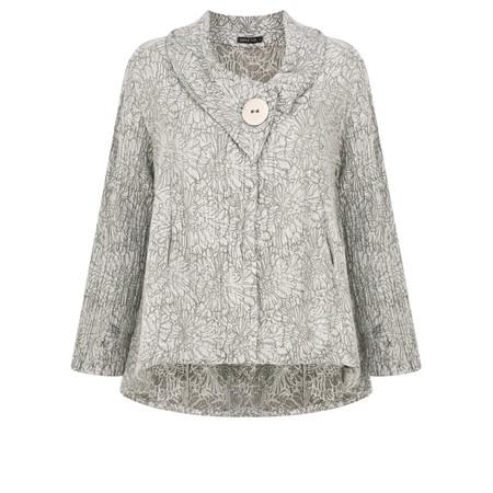Grizas Janne Flower Print Jacket - Grey