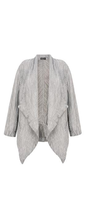 Grizas Britta Solid Crinkle Jacket Grey