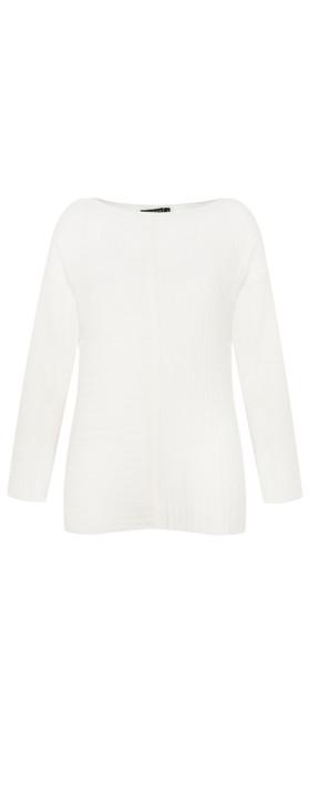 Grizas Mette Soft Knit Jumper White