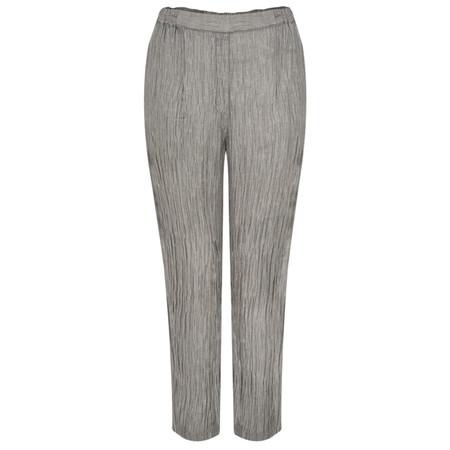 Grizas Karena Solid Crinkle Easyfit Trouser - Grey