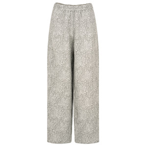Grizas Ulla Flower Print Easyfit Wide Leg Trouser
