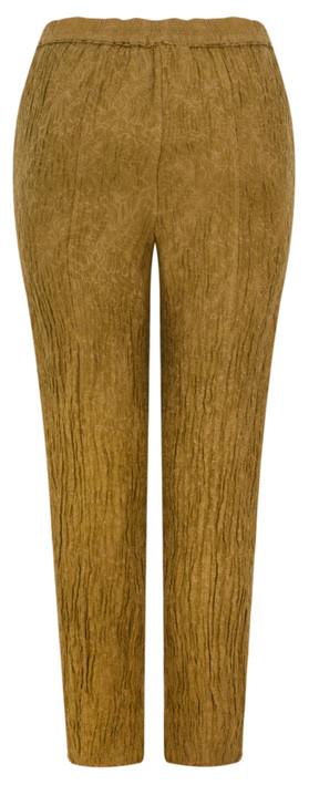 Grizas Alena Flower Print Easyfit Trouser Golden Khaki