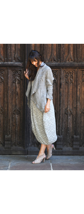 Grizas Bridgette Cap Sleeve Dress Grey