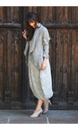 Grizas Grey Britta Solid Crinkle Jacket
