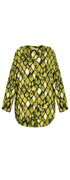 Masai Clothing Irma Lime Blouse Lime Org