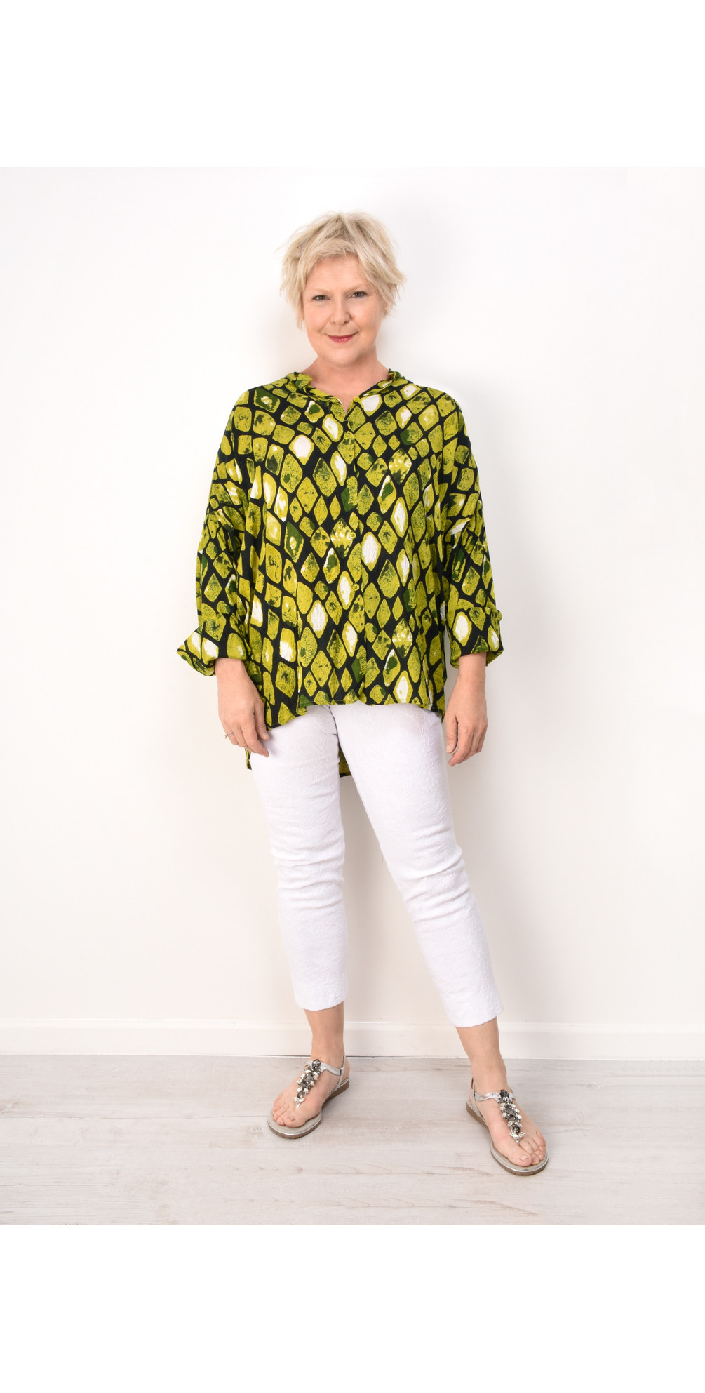Irma Lime Blouse main image