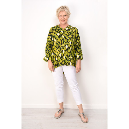 Masai Clothing Irma Lime Blouse - Green