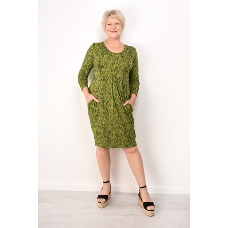Masai Clothing Grethe Animal Print Tunic Dress - Green