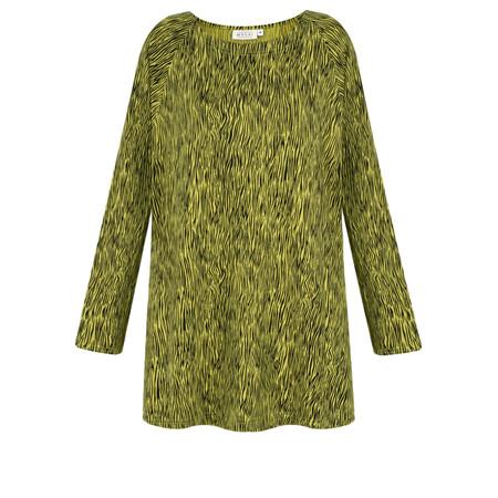 Masai Clothing Basitta Animal Print Top - Green