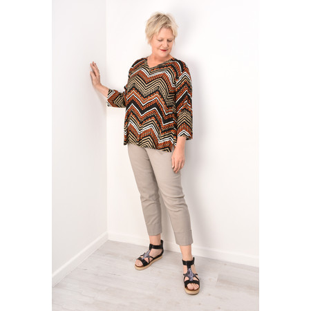 Masai Clothing Bahati Zig- Zag Top - Orange