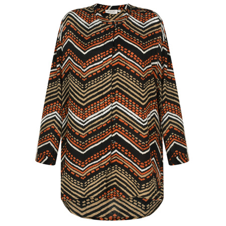 Masai Clothing Itsi Zig- Zag blouse - Orange