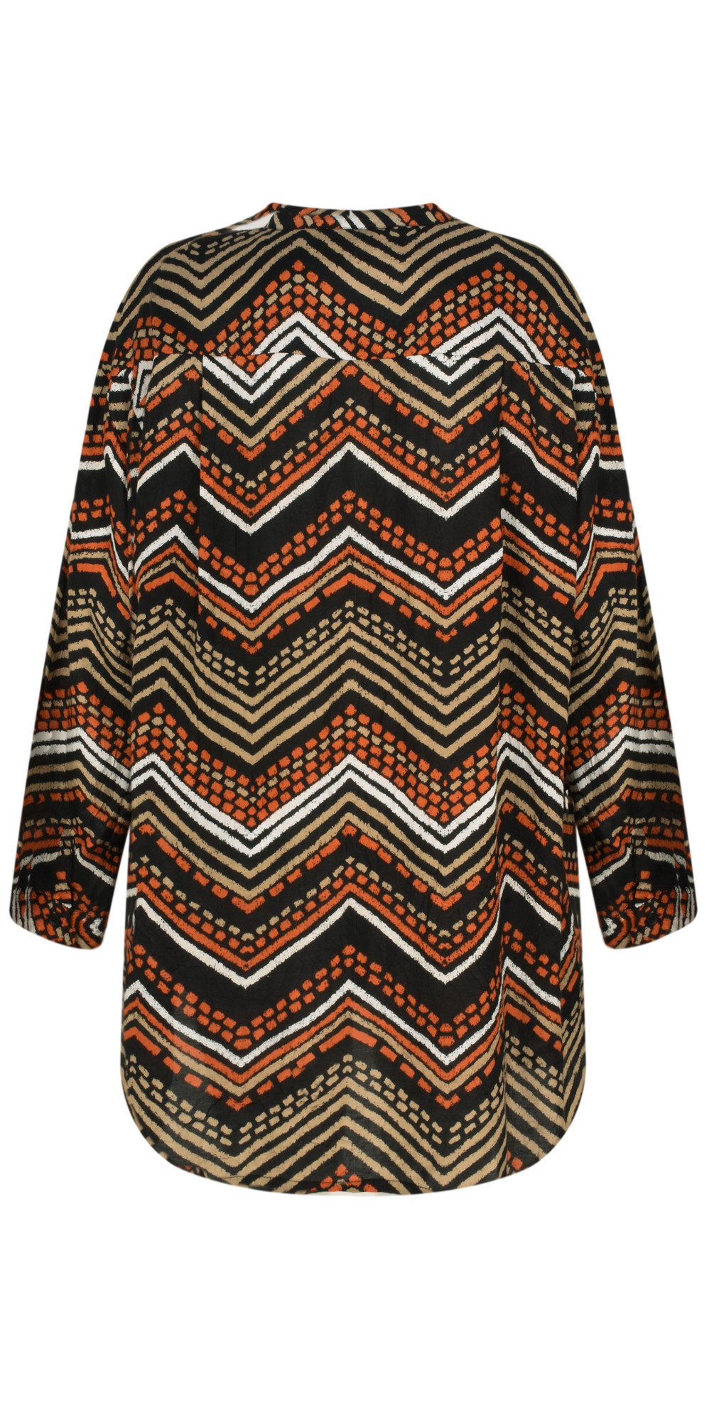 Masai Clothing Itsi Zig Zag Blouse In Flame Org Main Image