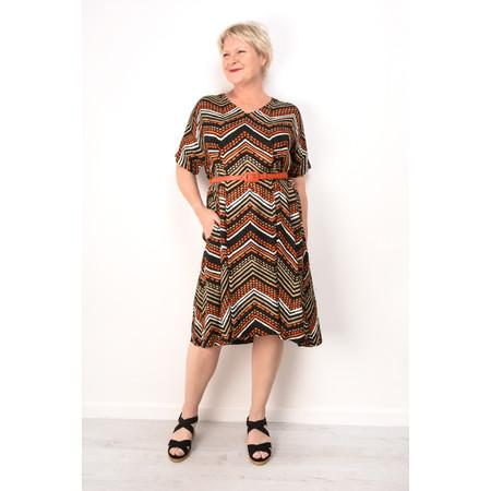 Masai Clothing Nibia Zig-Zag Print Dress - Orange
