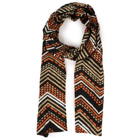 Masai Clothing Along Zig-Zag Scarf - Orange