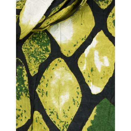 Masai Clothing Along Lime Print Scarf - Green