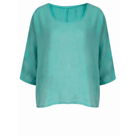 TOC  Billie Linen Easy Fit Top - Green