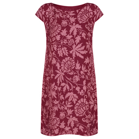 TOC  Dahlia Printed Linen Dress - Red