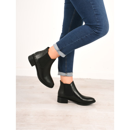 Tamaris  Camilla Stud Ankle Boot - Black