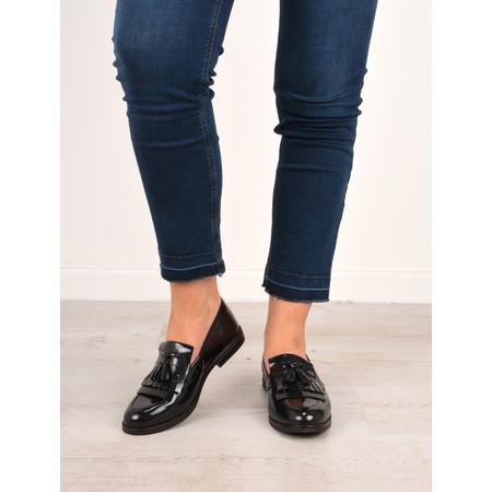 Caprice Footwear Berta Patent Loafer Shoe - Black