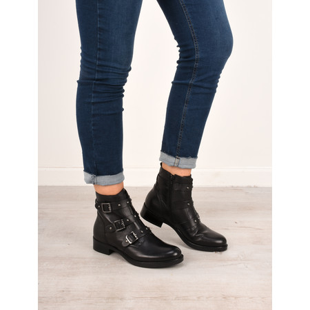 Tamaris  Odette Buckle Ankle Boot - Black