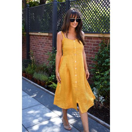 TOC  Cammie Linen Easy Fit Dress  - Yellow