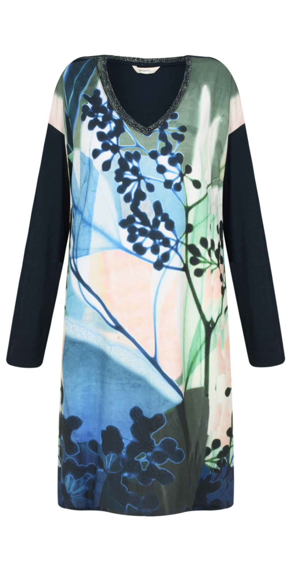 Abstract Floral Dress main image