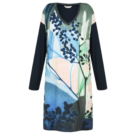 Sandwich Clothing Abstract Floral Dress - Blue