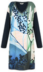 Sandwich Clothing True Blue Abstract Floral Dress