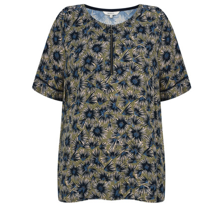 Sandwich Clothing Autumn Flower Dobby Top - Green