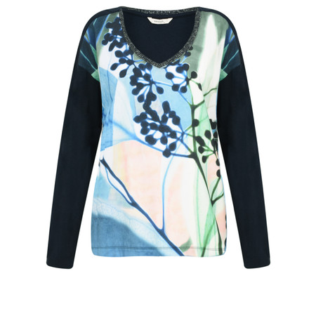 Sandwich Clothing Abstract Floral Top - Blue
