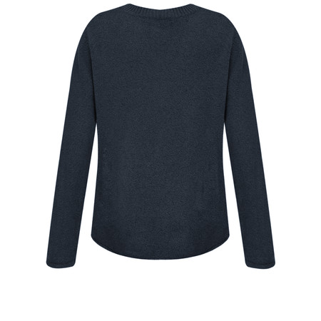 Sandwich Clothing Button Detail V Neck Jumper - Blue