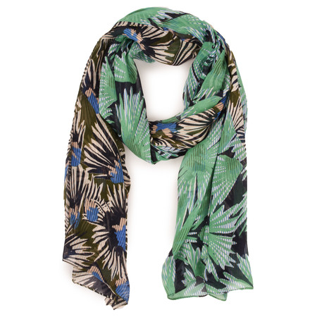 Sandwich Clothing Modal Autumn Flower Scarf - Green