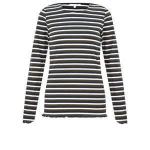 Sandwich Clothing Dobby Lurex Stripe Top