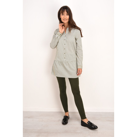 Sandwich Clothing Drop Waist Striped Tunic - Green