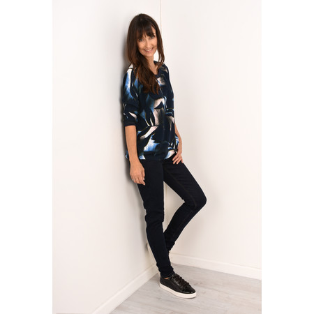 Sandwich Clothing Shadow Leaves Crepe Top - Blue