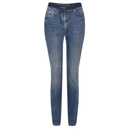 Sandwich Clothing Mid Blue Stretch Denim Jeans - Blue
