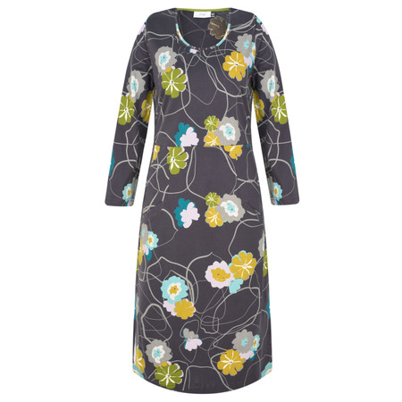 Adini Belleflower Print Tonette Dress - Grey