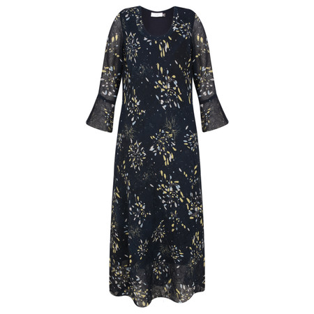 Adini Twilight Print Twilight Dress - Paris Blue