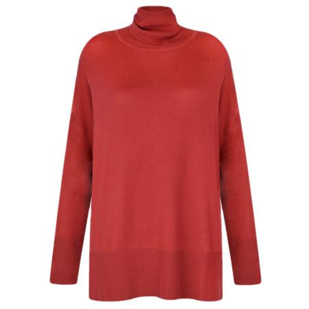 Adini Turin Knit Castello Jumper - Red