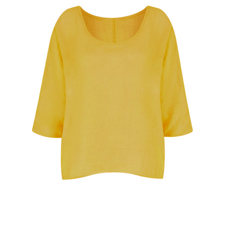 TOC  Billie Linen Easy Fit Top - Green