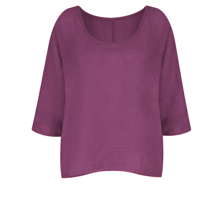 TOC  Billie Linen Easy Fit Top - Purple